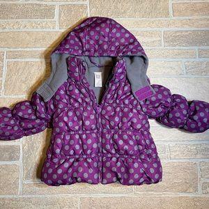 Carters 24 Month Purple Polka Dot Jacket
